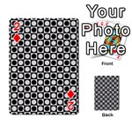 Modern Dots In Squares Mosaic Black White Playing Cards 54 Designs  Front - Diamond2