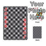 Modern Dots In Squares Mosaic Black White Playing Cards 54 Designs  Front - Joker2