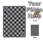 Modern Dots In Squares Mosaic Black White Playing Cards 54 Designs  Front - Spade10