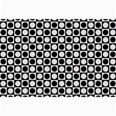 Modern Dots In Squares Mosaic Black White Collage Prints