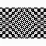Modern Dots In Squares Mosaic Black White Collage Prints 18 x12 Print - 2
