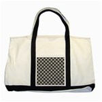 Modern Dots In Squares Mosaic Black White Two Tone Tote Bag Front