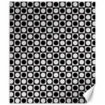 Modern Dots In Squares Mosaic Black White Canvas 8  x 10  10.02 x8 Canvas - 1