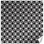 Modern Dots In Squares Mosaic Black White Canvas 16  x 16   16 x16 Canvas - 1