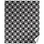 Modern Dots In Squares Mosaic Black White Canvas 16  x 20   20 x16 Canvas - 1