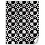 Modern Dots In Squares Mosaic Black White Canvas 18  x 24   24 x18 Canvas - 1