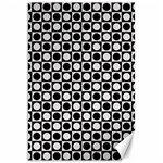Modern Dots In Squares Mosaic Black White Canvas 20  x 30   30 x20 Canvas - 1