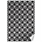 Modern Dots In Squares Mosaic Black White Canvas 24  x 36  36 x24 Canvas - 1