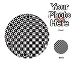 Modern Dots In Squares Mosaic Black White Playing Cards 54 (Round)  Front - Spade6