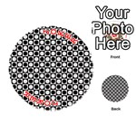 Modern Dots In Squares Mosaic Black White Playing Cards 54 (Round)  Front - Joker2