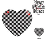 Modern Dots In Squares Mosaic Black White Playing Cards 54 (Heart)  Front - Diamond7