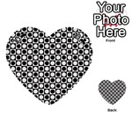 Modern Dots In Squares Mosaic Black White Playing Cards 54 (Heart)  Front - Club10