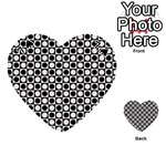 Modern Dots In Squares Mosaic Black White Playing Cards 54 (Heart)  Front - Spade7