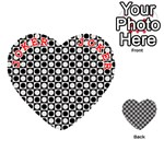 Modern Dots In Squares Mosaic Black White Playing Cards 54 (Heart)  Front - Joker2