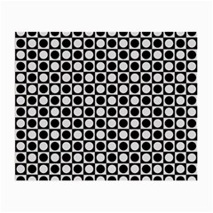Modern Dots In Squares Mosaic Black White Small Glasses Cloth (2 Side)