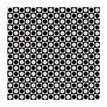 Modern Dots In Squares Mosaic Black White Medium Glasses Cloth Front