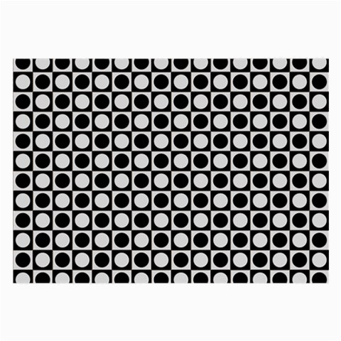 Modern Dots In Squares Mosaic Black White Large Glasses Cloth