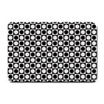 Modern Dots In Squares Mosaic Black White Small Doormat  24 x16 Door Mat - 1