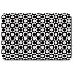 Modern Dots In Squares Mosaic Black White Large Doormat  30 x20 Door Mat - 1