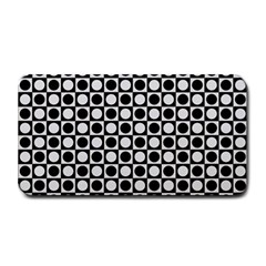 Modern Dots In Squares Mosaic Black White Medium Bar Mats
