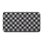 Modern Dots In Squares Mosaic Black White Medium Bar Mats 16 x8.5 Bar Mat - 1