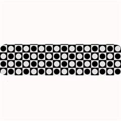Modern Dots In Squares Mosaic Black White Large Bar Mats