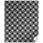 Modern Dots In Squares Mosaic Black White Canvas 11  x 14   14 x11 Canvas - 1