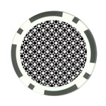 Modern Dots In Squares Mosaic Black White Poker Chip Card Guards Front
