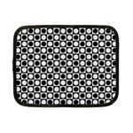 Modern Dots In Squares Mosaic Black White Netbook Case (Small)  Front