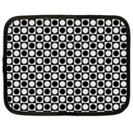 Modern Dots In Squares Mosaic Black White Netbook Case (Large) Front