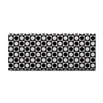 Modern Dots In Squares Mosaic Black White Hand Towel Front