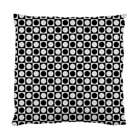 Modern Dots In Squares Mosaic Black White Standard Cushion Case (One Side)