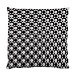 Modern Dots In Squares Mosaic Black White Standard Cushion Case (One Side) Front