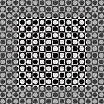 Modern Dots In Squares Mosaic Black White Mini Canvas 4  x 4  4  x 4  x 0.875  Stretched Canvas