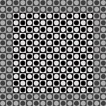 Modern Dots In Squares Mosaic Black White Mini Canvas 6  x 6  6  x 6  x 0.875  Stretched Canvas