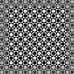 Modern Dots In Squares Mosaic Black White Mini Canvas 8  x 8  8  x 8  x 0.875  Stretched Canvas