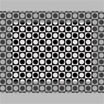 Modern Dots In Squares Mosaic Black White Mini Canvas 7  x 5  7  x 5  x 0.875  Stretched Canvas