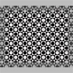 Modern Dots In Squares Mosaic Black White Canvas 10  x 8  10  x 8  x 0.875  Stretched Canvas