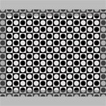 Modern Dots In Squares Mosaic Black White Canvas 14  x 11  14  x 11  x 0.875  Stretched Canvas