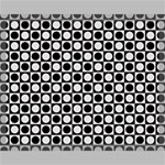 Modern Dots In Squares Mosaic Black White Canvas 20  x 16  20  x 16  x 0.875  Stretched Canvas