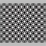 Modern Dots In Squares Mosaic Black White Canvas 24  x 20  24  x 20  x 0.875  Stretched Canvas