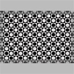 Modern Dots In Squares Mosaic Black White Canvas 18  x 12  18  x 12  x 0.875  Stretched Canvas