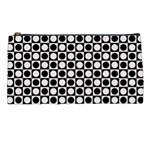 Modern Dots In Squares Mosaic Black White Pencil Cases Front