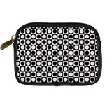 Modern Dots In Squares Mosaic Black White Digital Camera Cases Front