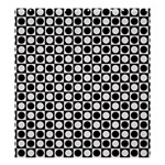 Modern Dots In Squares Mosaic Black White Shower Curtain 66  x 72  (Large)  58.75 x64.8 Curtain