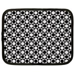 Modern Dots In Squares Mosaic Black White Netbook Case (XXL)  Front