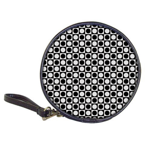 Modern Dots In Squares Mosaic Black White Classic 20-CD Wallets