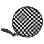 Modern Dots In Squares Mosaic Black White Classic 20-CD Wallets Front