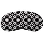 Modern Dots In Squares Mosaic Black White Sleeping Masks Front