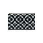 Modern Dots In Squares Mosaic Black White Cosmetic Bag (Small)  Front